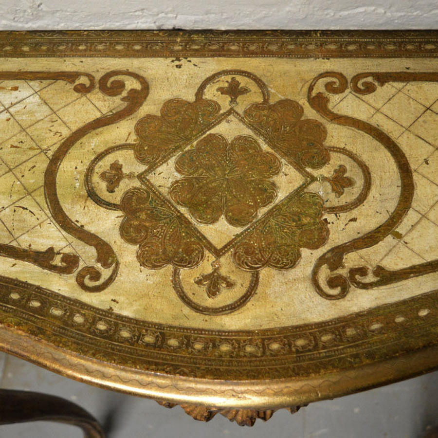 Venetian Gilt and painted console table