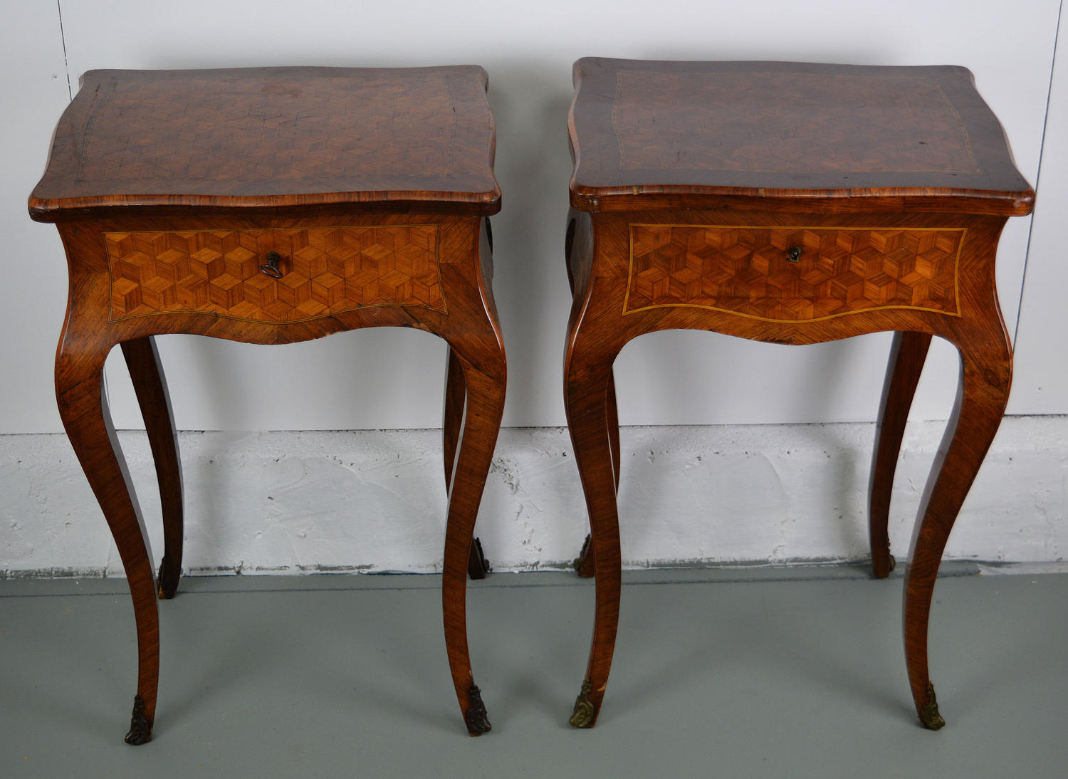 19th Century Pair of Louis XV tables