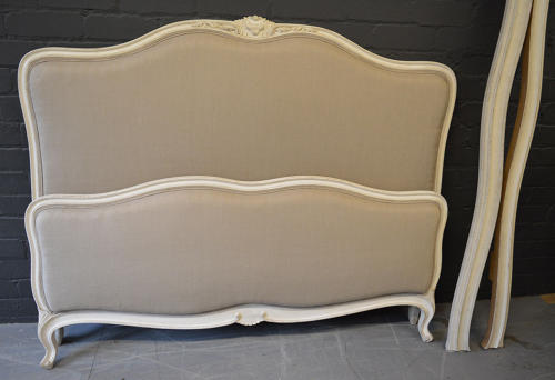 King Size Louis XV style Upholstered Bedstead