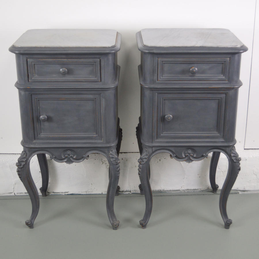 Pair of 19th Century Napoleon III bedside cabinets
