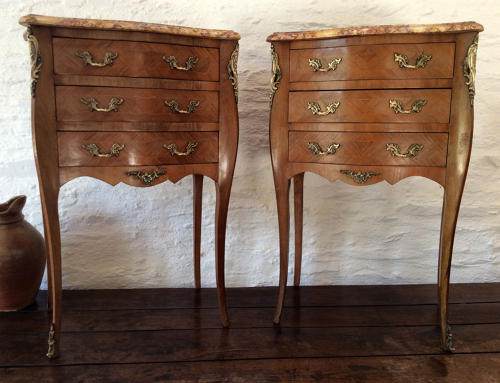 Pair of Louis XV style bedside commodes