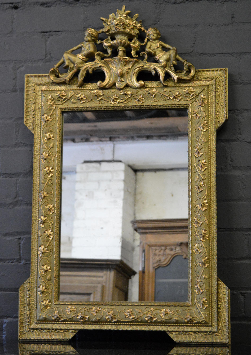 19th Century Louis XVI style gilt mirror