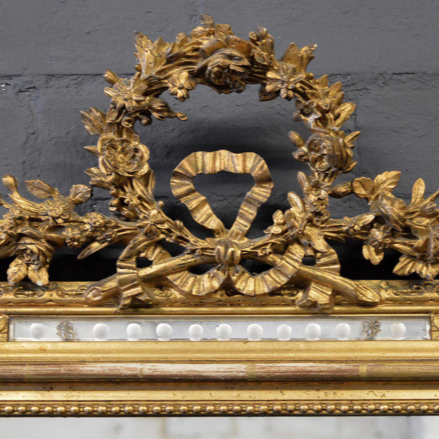 19thC Louis XVI gilt mirror