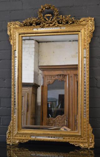 19thC Louis XVI gilt mirror