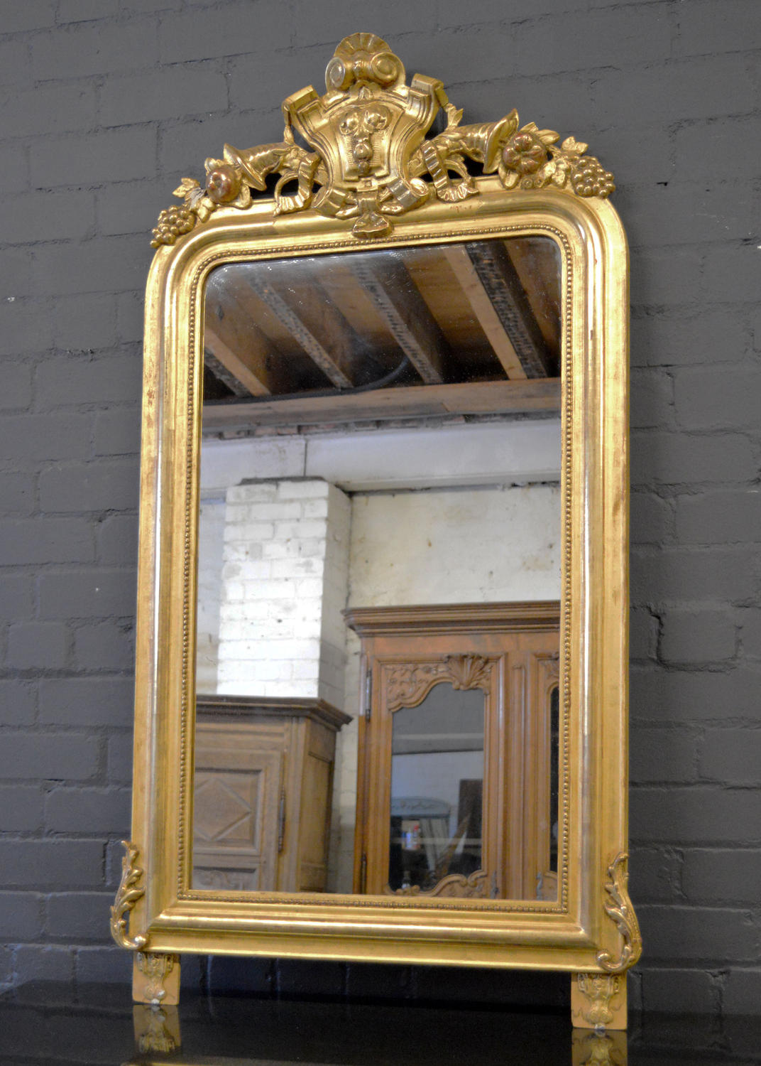 19thC Louis Philippe Gilt Mirror