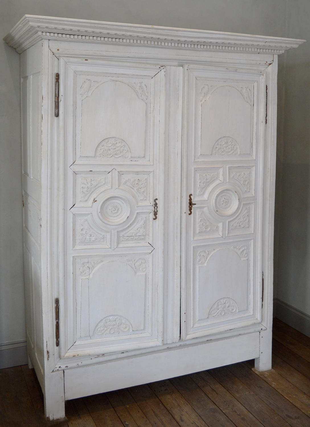 18thC Large French Rennaise Regence Marriage Armoire (1720)