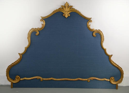 Super King size Venetian Gilt & Linen Headboard