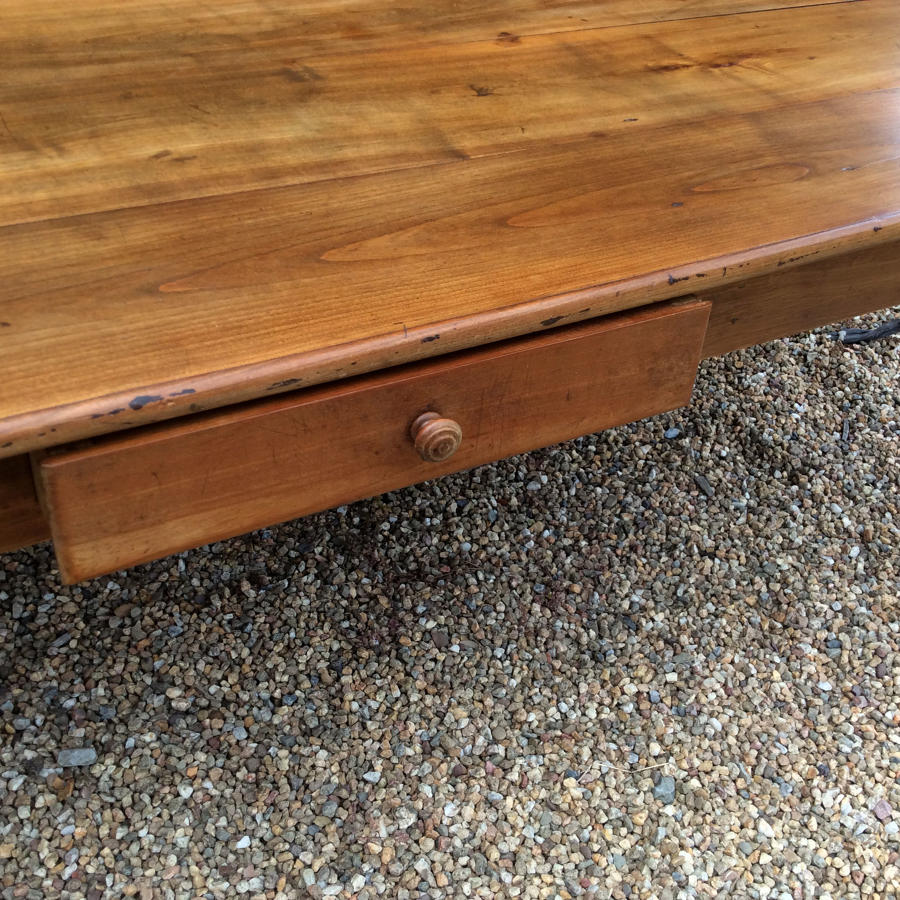 Large 19thC Cherry Farmhouse table