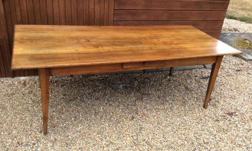 Large 19thC Cherry Farmhouse table