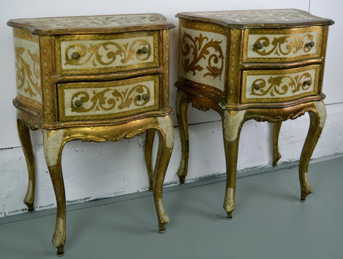 Pair of Venetian Gilt bedside tables