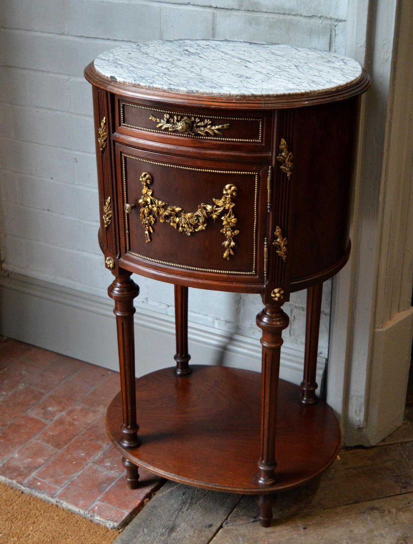 19thC Louis XVI style Lamp table