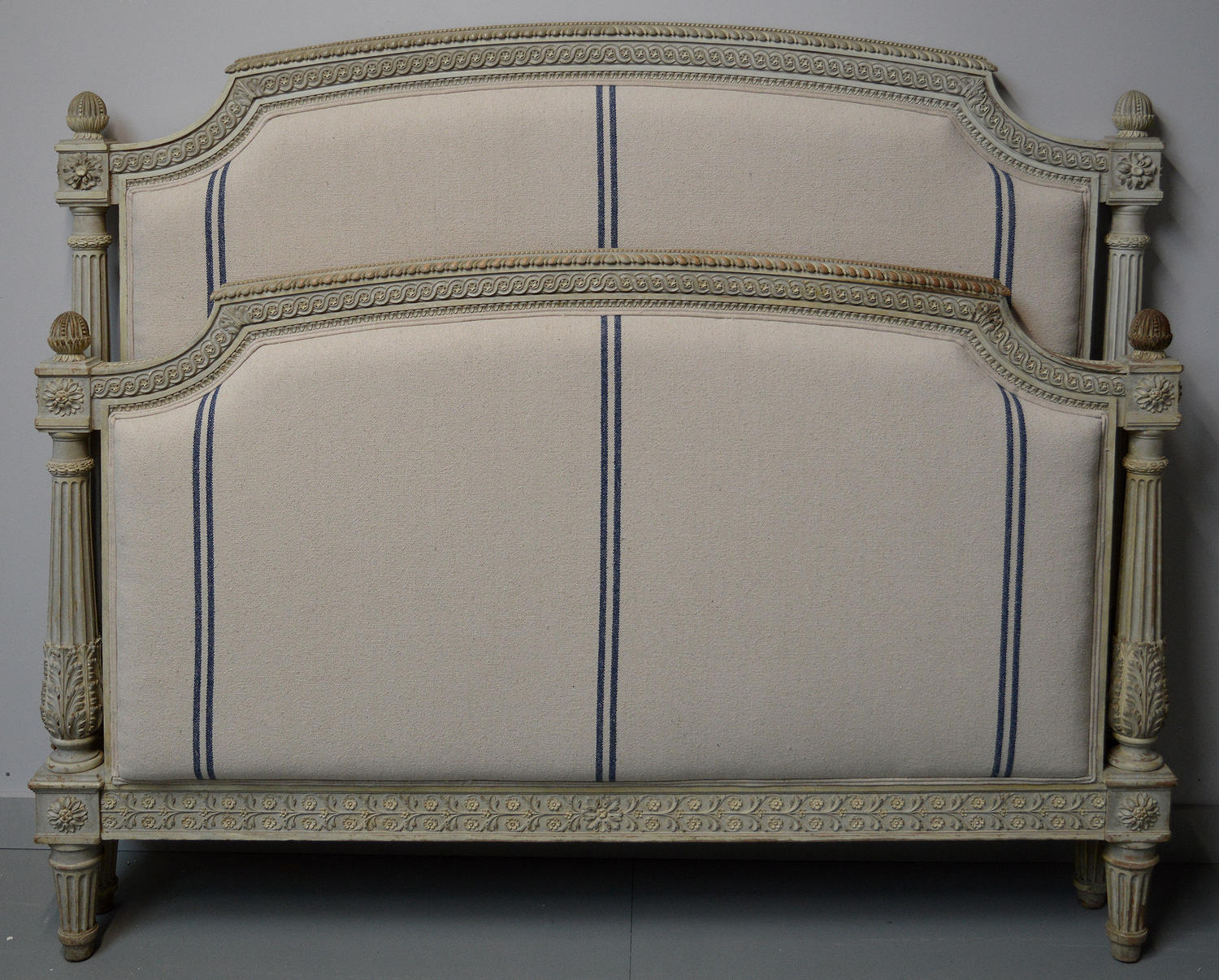 19thC Louis XVI style bedstead