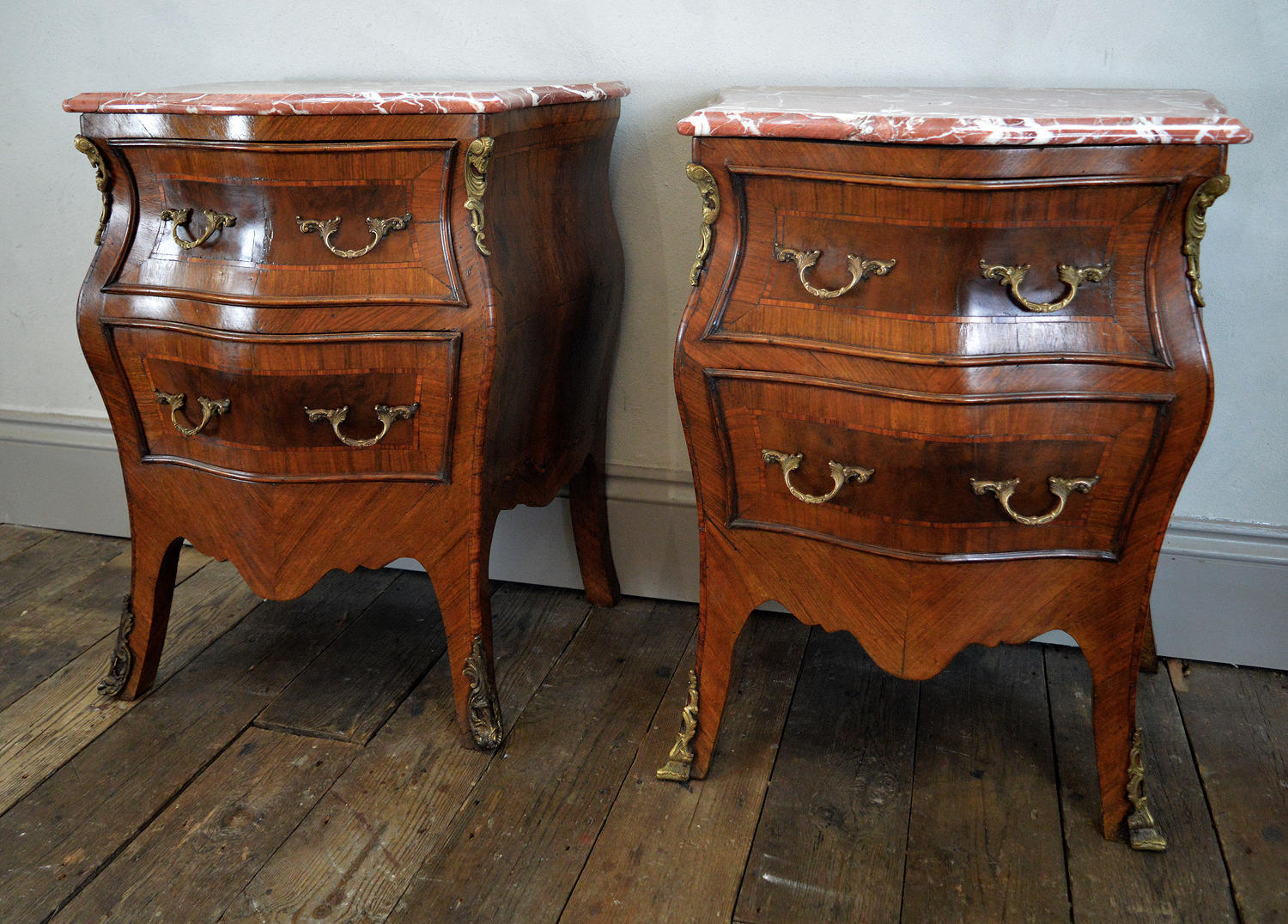 Pair of 19thC Italian Bedside Commodes