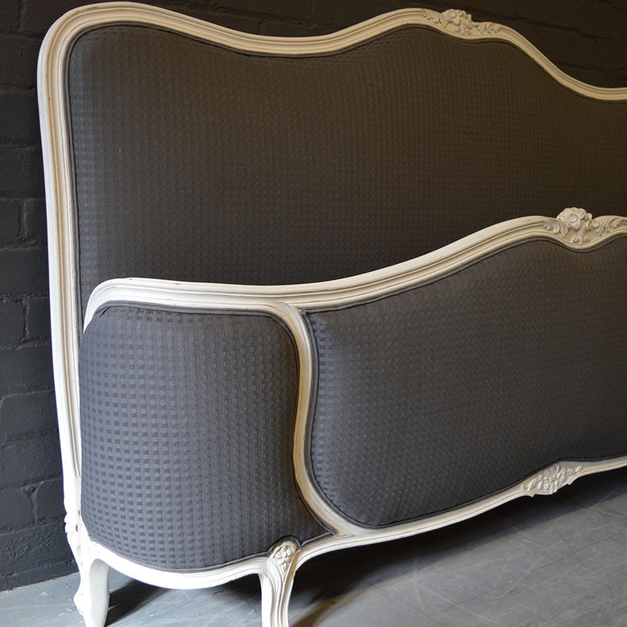 Super King size Louis XV style Upholstered bedstead