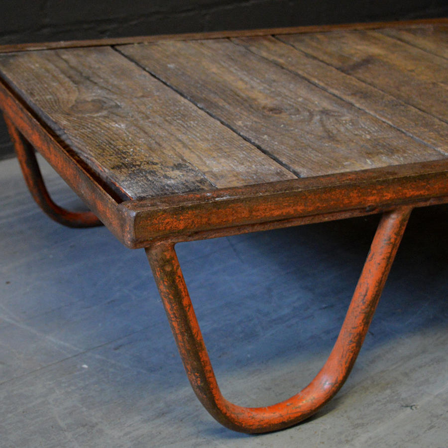 Vintage French Railway industrial pallet coffee table