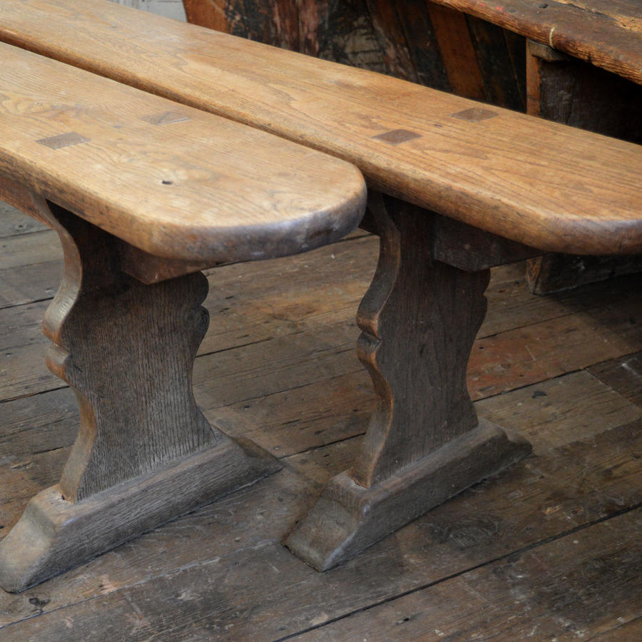 Pair of Large 19thC Oak benches