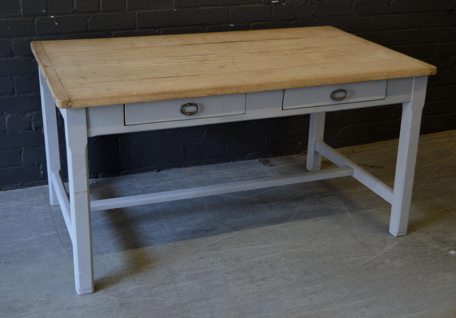 Early 20thC Farmhouse Scrub top table