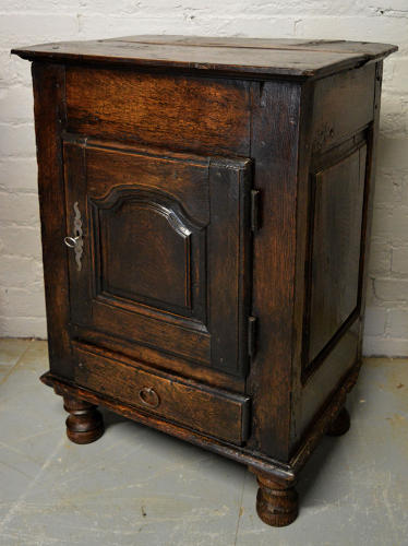 French 18thC Breton Garde Manger Oak Cupboard