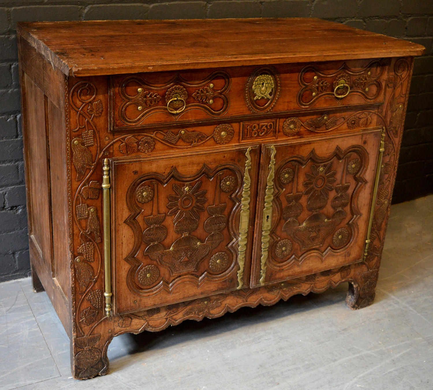 19th Century Quimper Breton Marriage Buffet