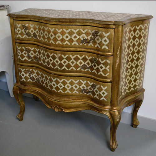 Venetian Painted and Gilt Commode