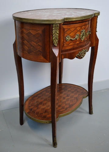 19th Century Louis XVI style Marquetry Lamp Table