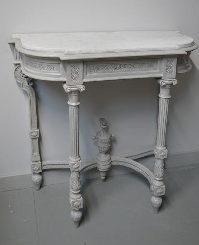 19thC Louis XVI style console table