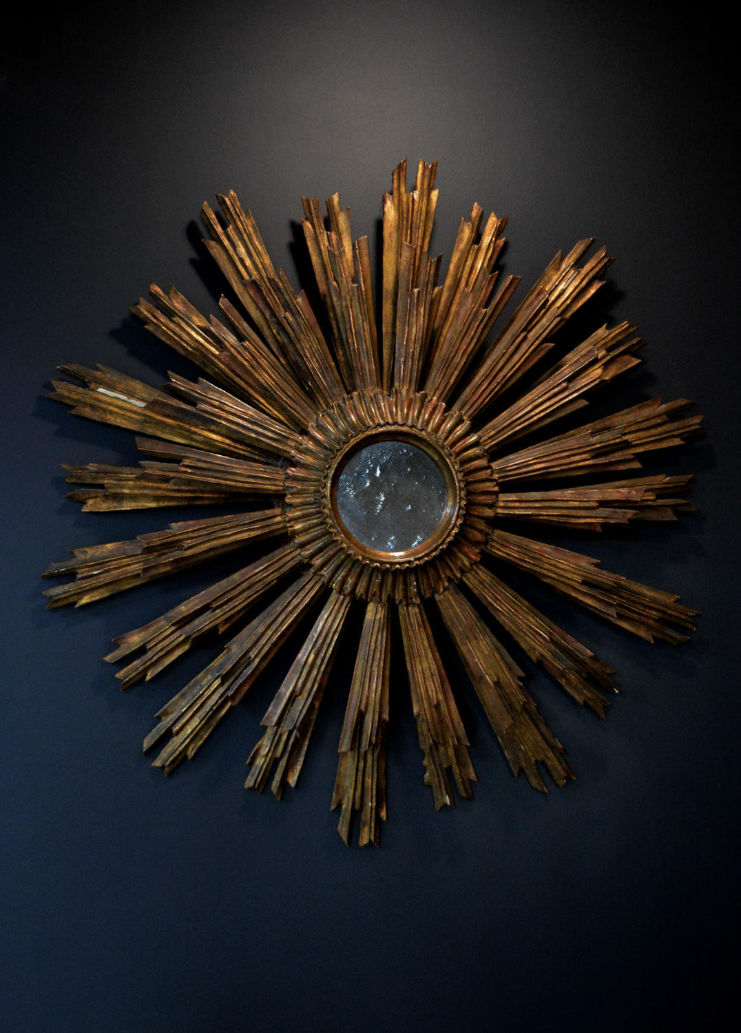 Large Early 19thC Sunburst Mirror
