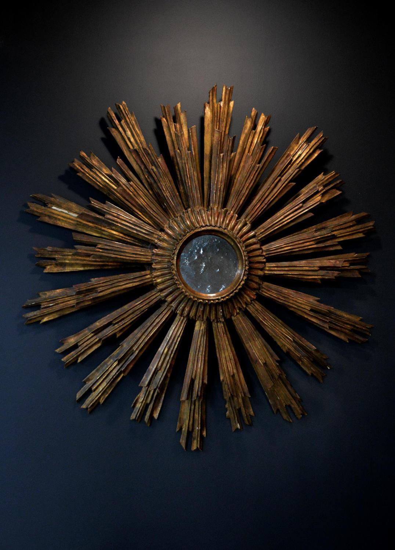 Large Early 19thC Sunburst Mirror