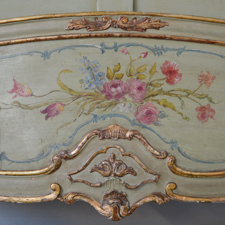 Large King-size Hand Painted Venetian Bedstead