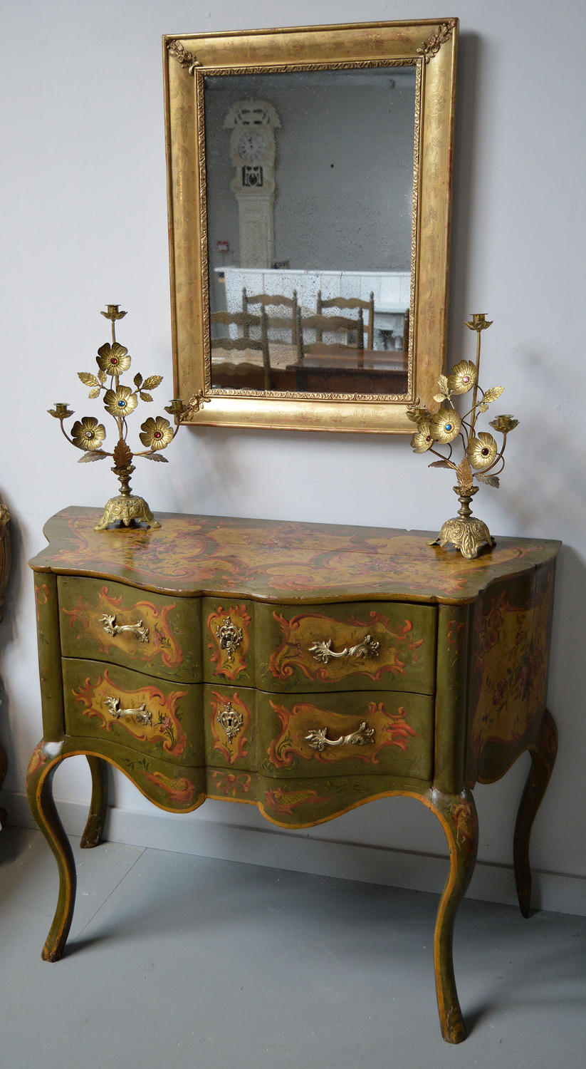 Late 19thC Venetian Hand Painted Commode