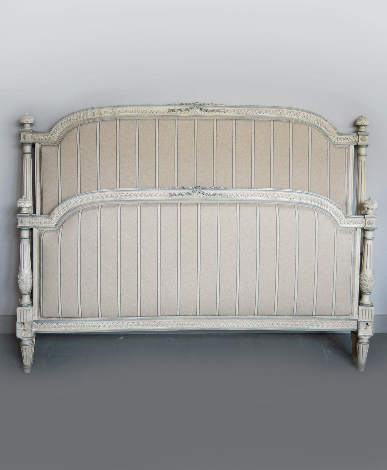 Louis XVI style King size Upholstered bedstead