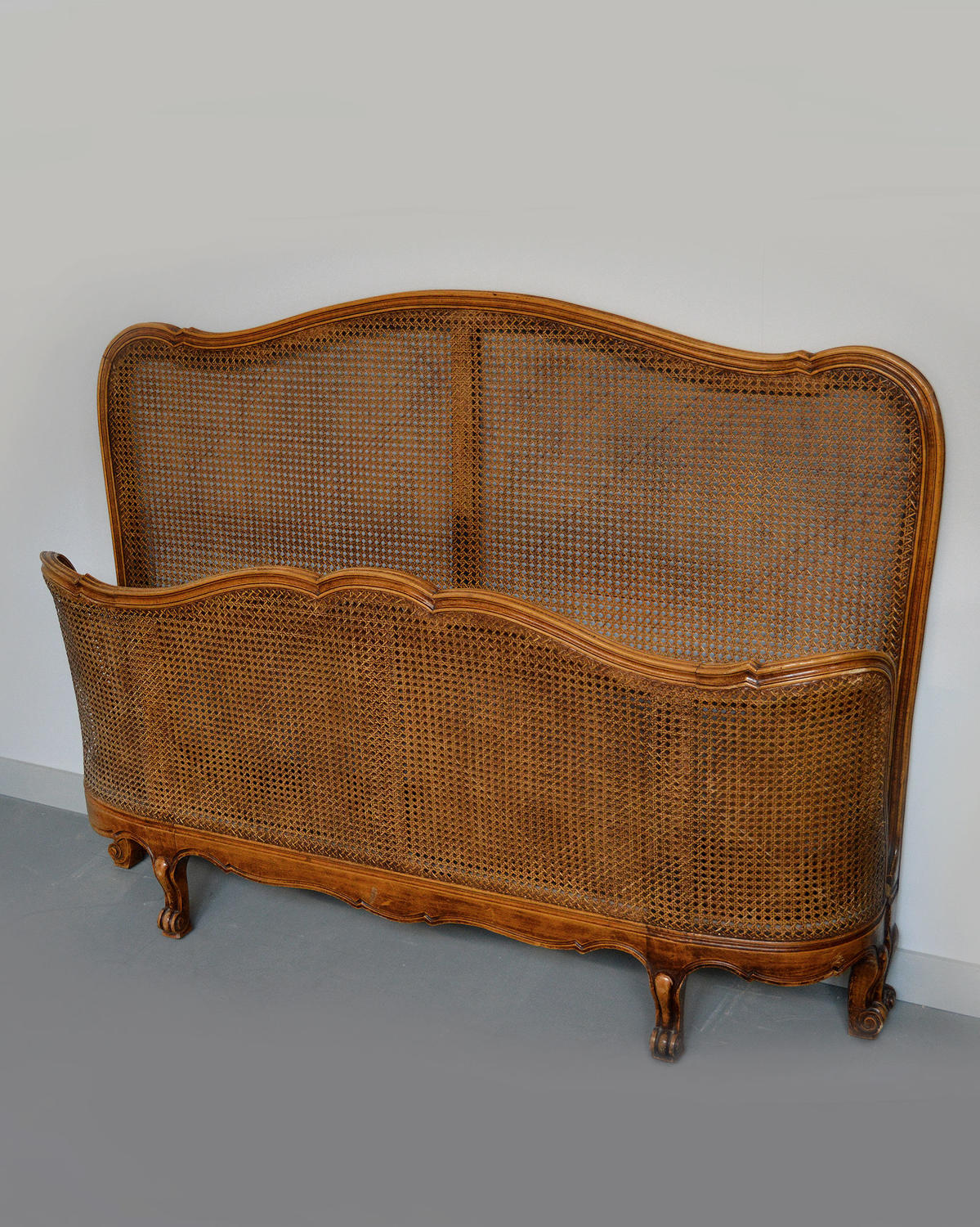 Louis XV style King size Cane bedstead