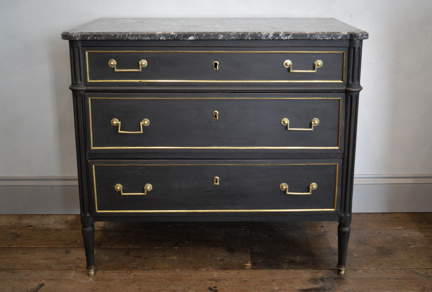 Late 18th Century Louis XVI marble top commode