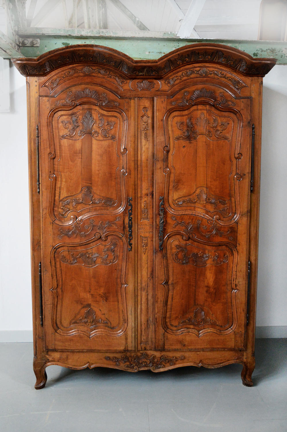 French Early 19th Century Rennes Marriage armoire