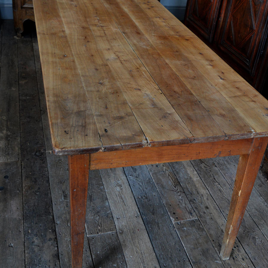 Large 19th Century Cherry Farmhouse table