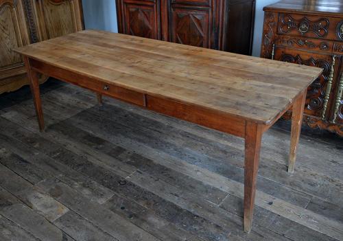 Large 19th Century Cherry Farmhouse table