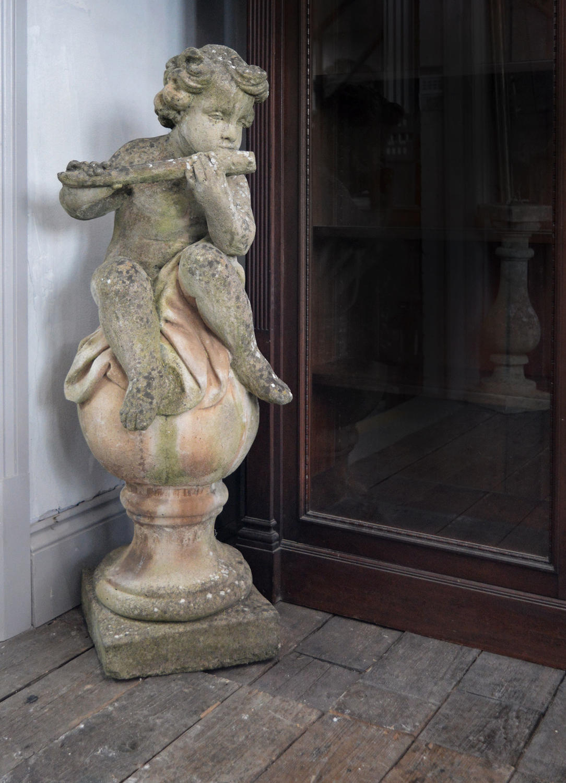 Italian Stone Composite Putti Garden statue