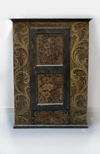 Small Hand Painted 18th Century Alsace Armoire