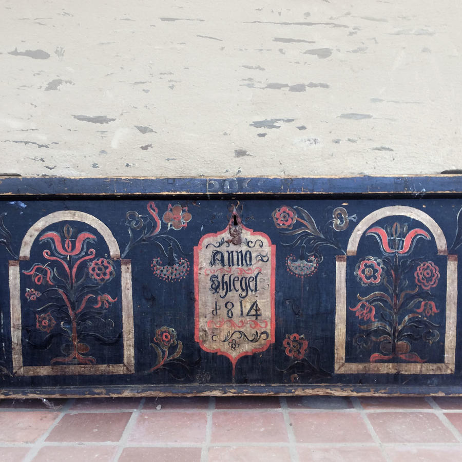 19th Century Northern Europe Hand Painted Blanket Chest