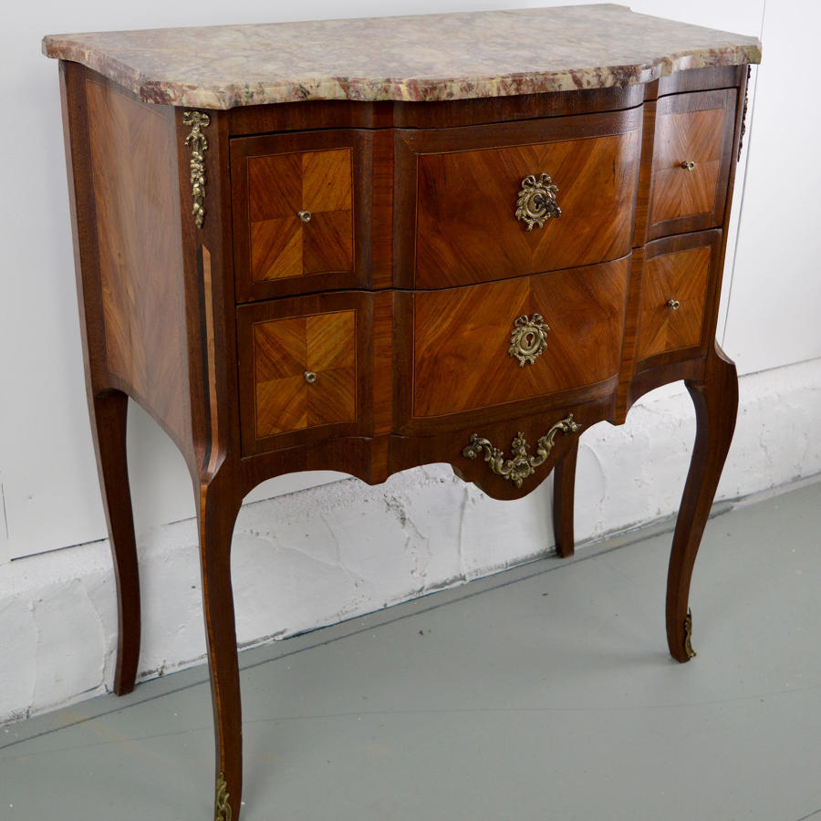 Late 19th Louis XVI Style Small Scale Two Drawer Commode