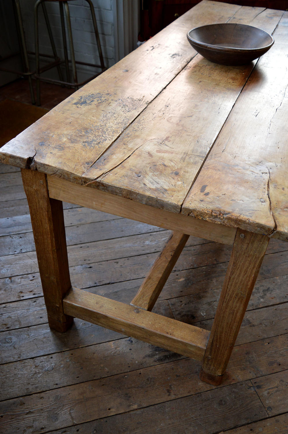 18th Century Cherry & Elm Refectory Table