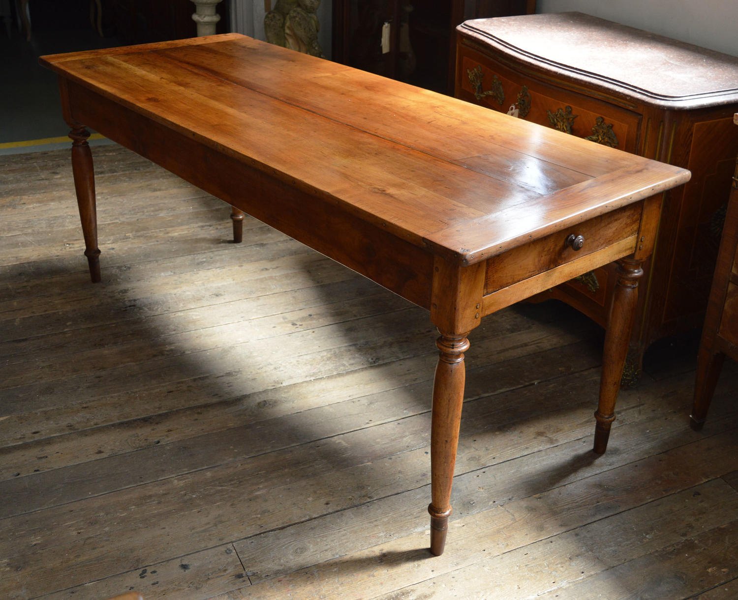 French 19th Century Cherry Farmhouse Table
