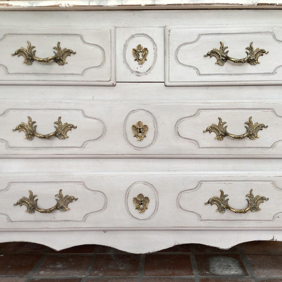 19th Century Louis XIV style painted commode