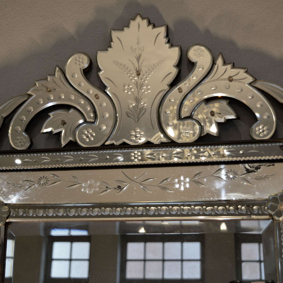 Large Early 20thC Venetian Cushion Mirror