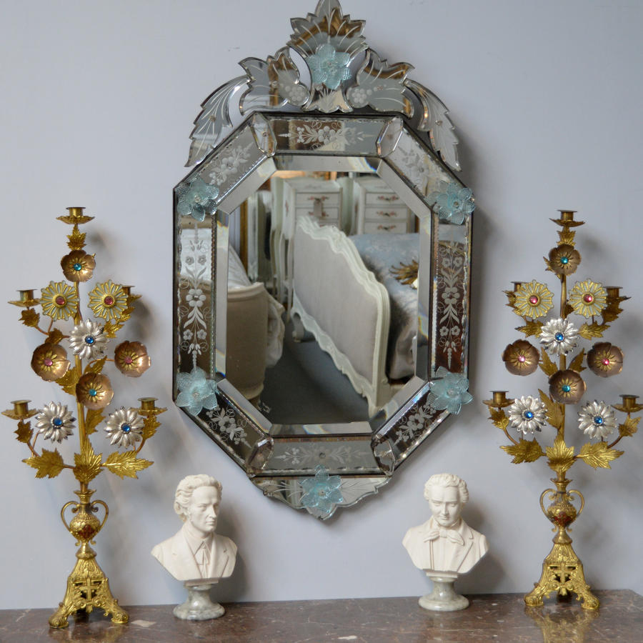 Early 20thC Venetian wall mirror