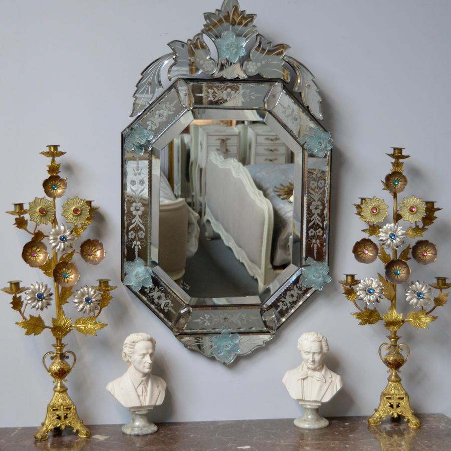 Early 20thC Venetian wall mirror