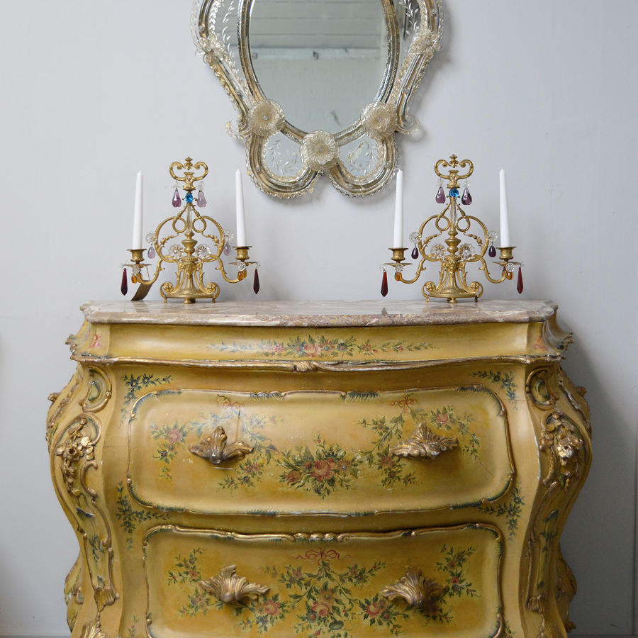 Late 19th Century Venetian Bombe Commode