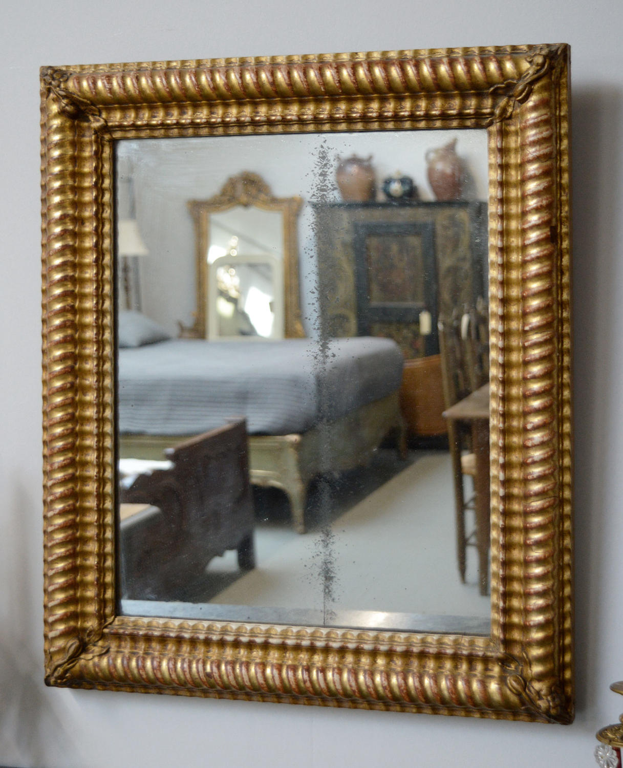 Small early 19th Century Charles X mirror