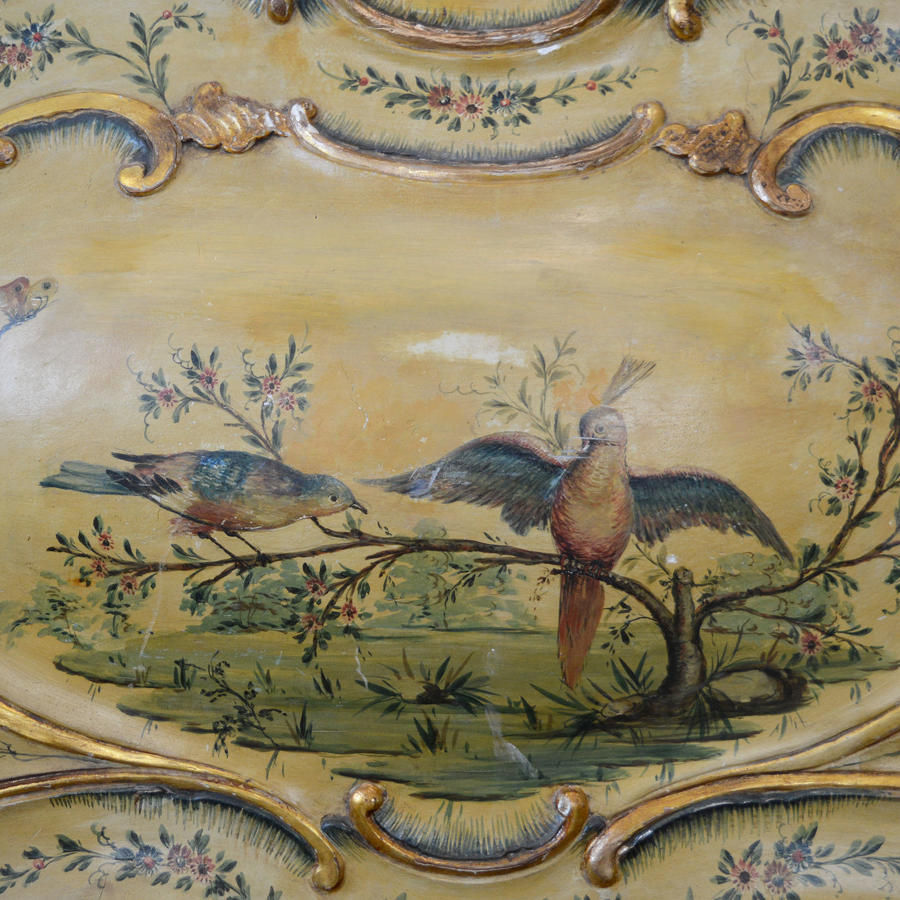 19th Century Venetian Hand Painted King size bedstead