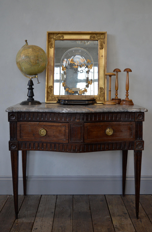 Rare 18th Century Louis XVI Provençal oak & marble console